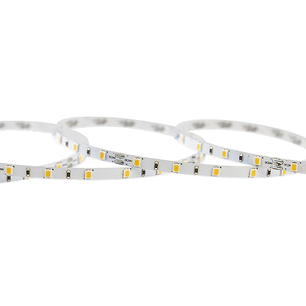 Blueview FN-2835A-60-24-40K-RA80-5mm 2835A Normal LED Strip; Color White; Input 24Vdc; CCT 4000K; CRI 80+ ; 5m per reel; 60 leds per meter; Power per meter 4.8W
