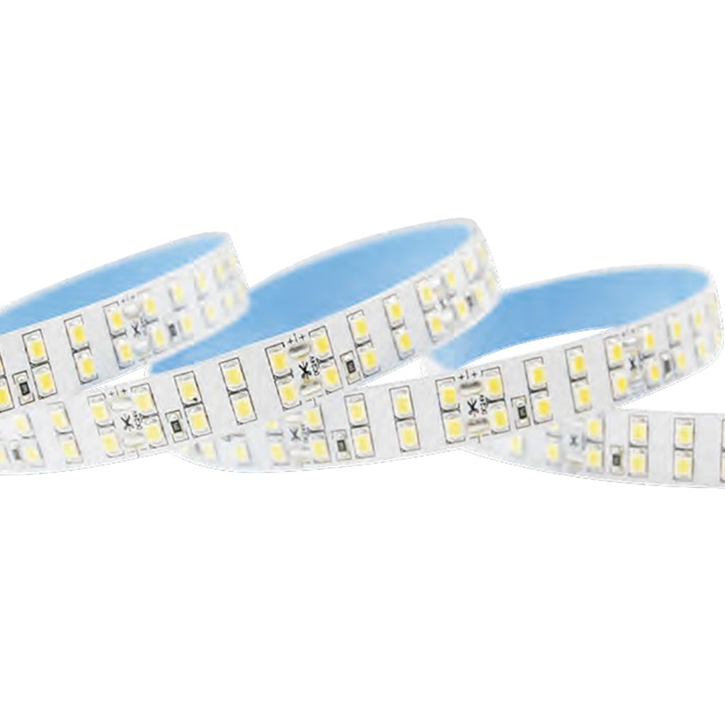 Blueview FN-H2835-240-24-27K-RA95 2835 High Efficacy LED Strip; 8 LEDS cuttable; Color White; Input 24Vdc; CCT 2700K; CRI 95+ ; 5m per reel; 240 leds per meter; Power per meter 21.6W