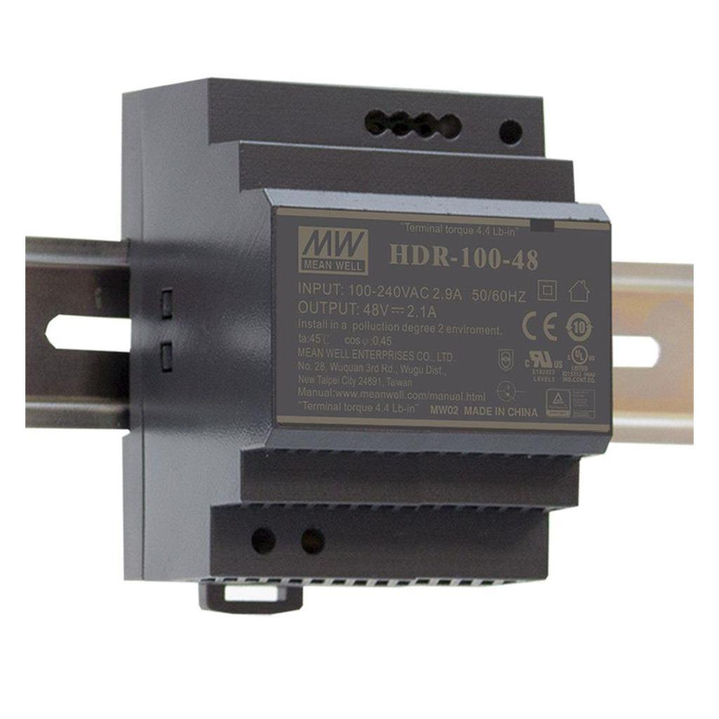 Mean Well HDR-100-15 AC//DC C.C. DIN rail 15V 6.13A Power Supply