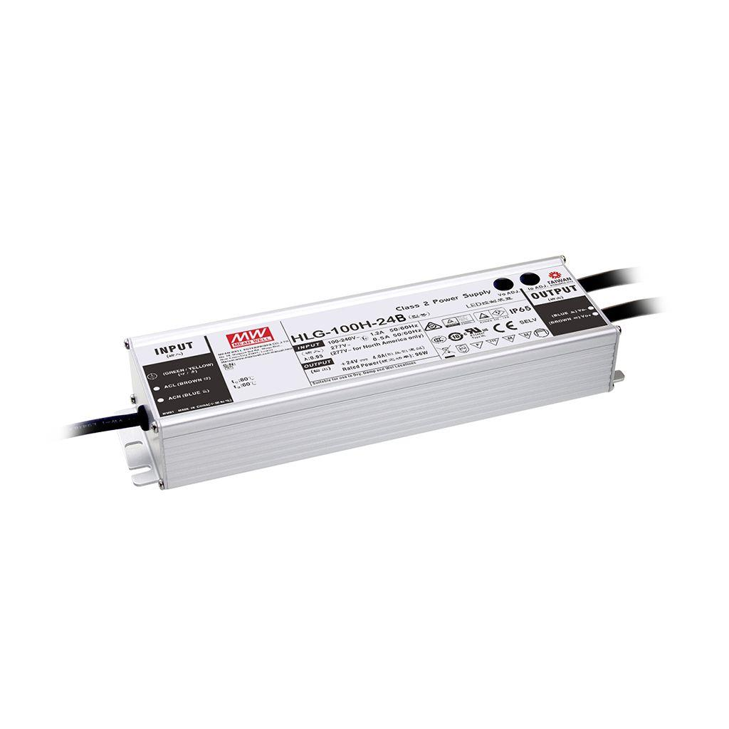 Mean Well HLG-100H-24AB AC/DC Box Type - Enclosed 24V 4A Single output LED driver