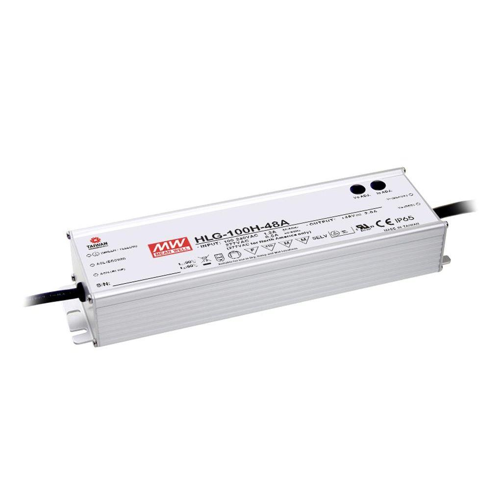 Mean Well HLG-100H-42 AC/DC C.V. C.C. Box Type - Enclosed 42V 2.23A Single output LED driver