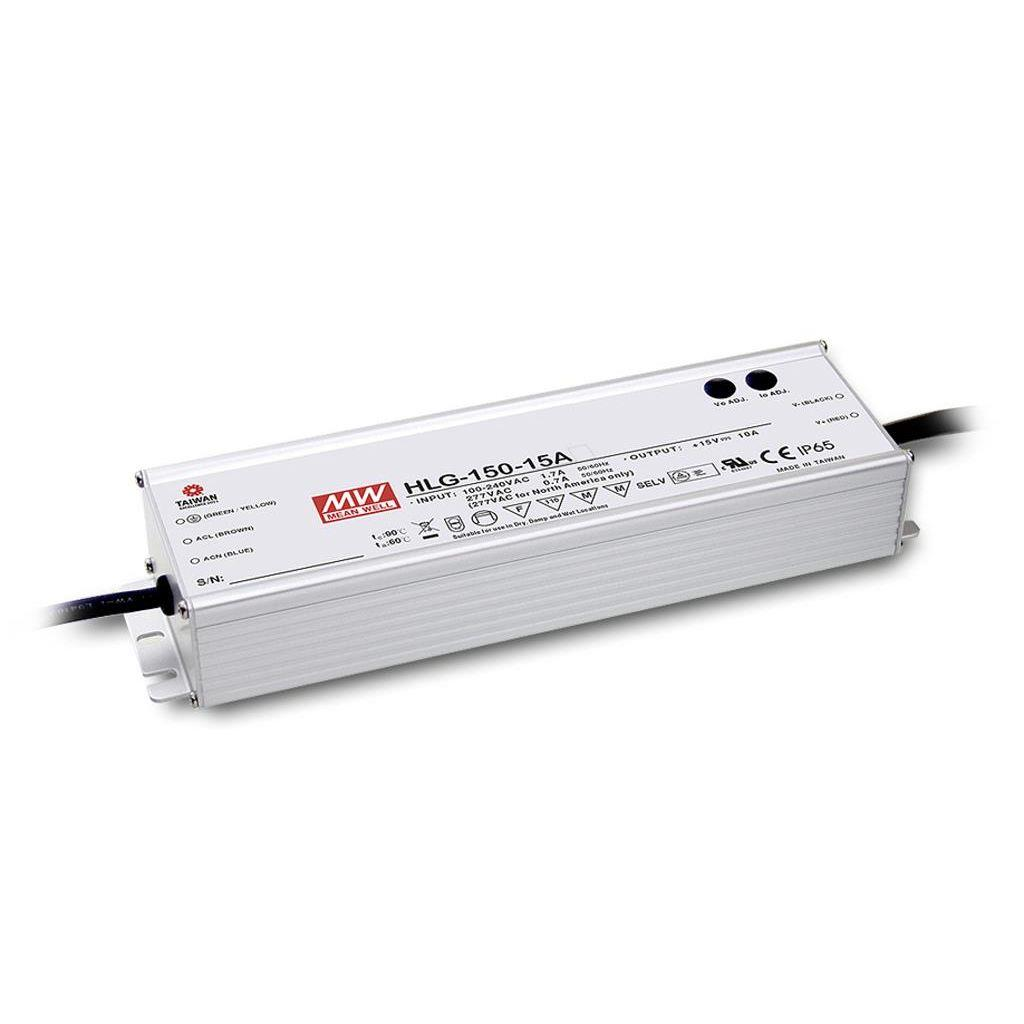Mean Well HLG-150H-12 AC/DC C.V. C.C.  Box Type - Enclosed 12V 12.5A Single output LED driver