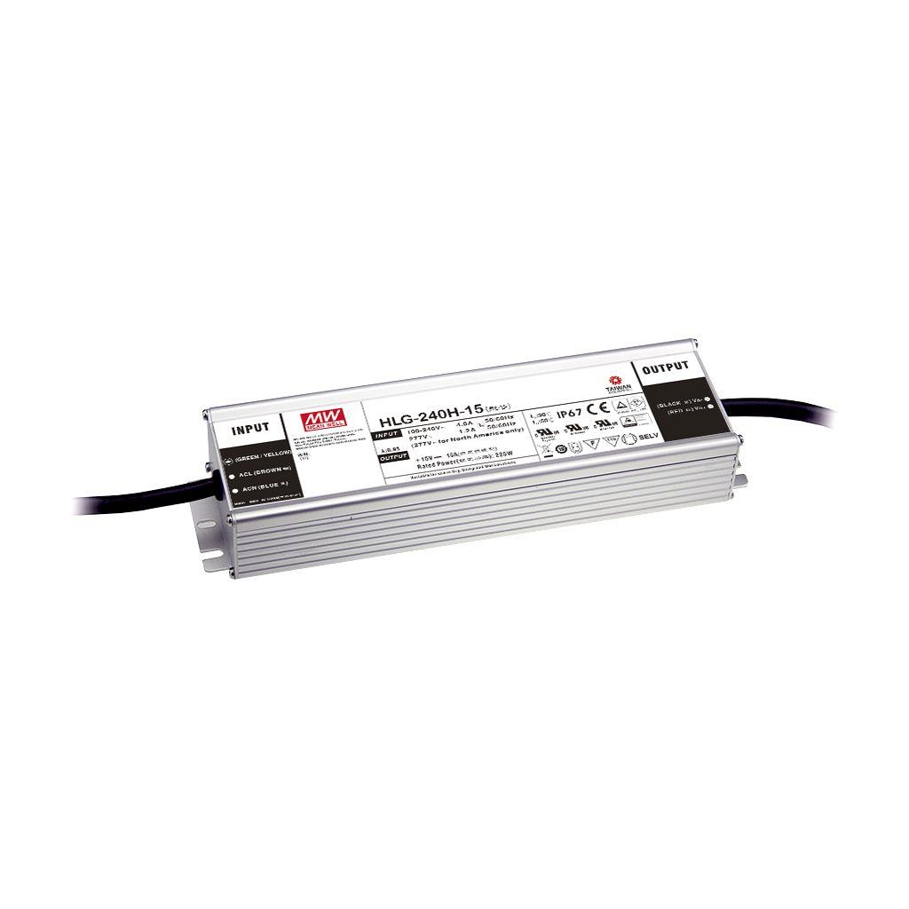 Mean Well HLG-240H-12AB AC/DC Box Type - Enclosed 12V 16A Single output LED driver