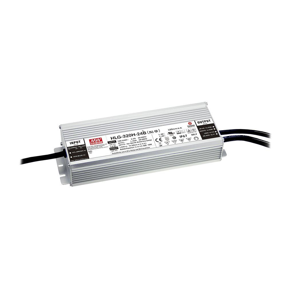 Mean Well HLG-320H-12AB AC/DC Box Type - Enclosed 12V 22A Single output LED driver