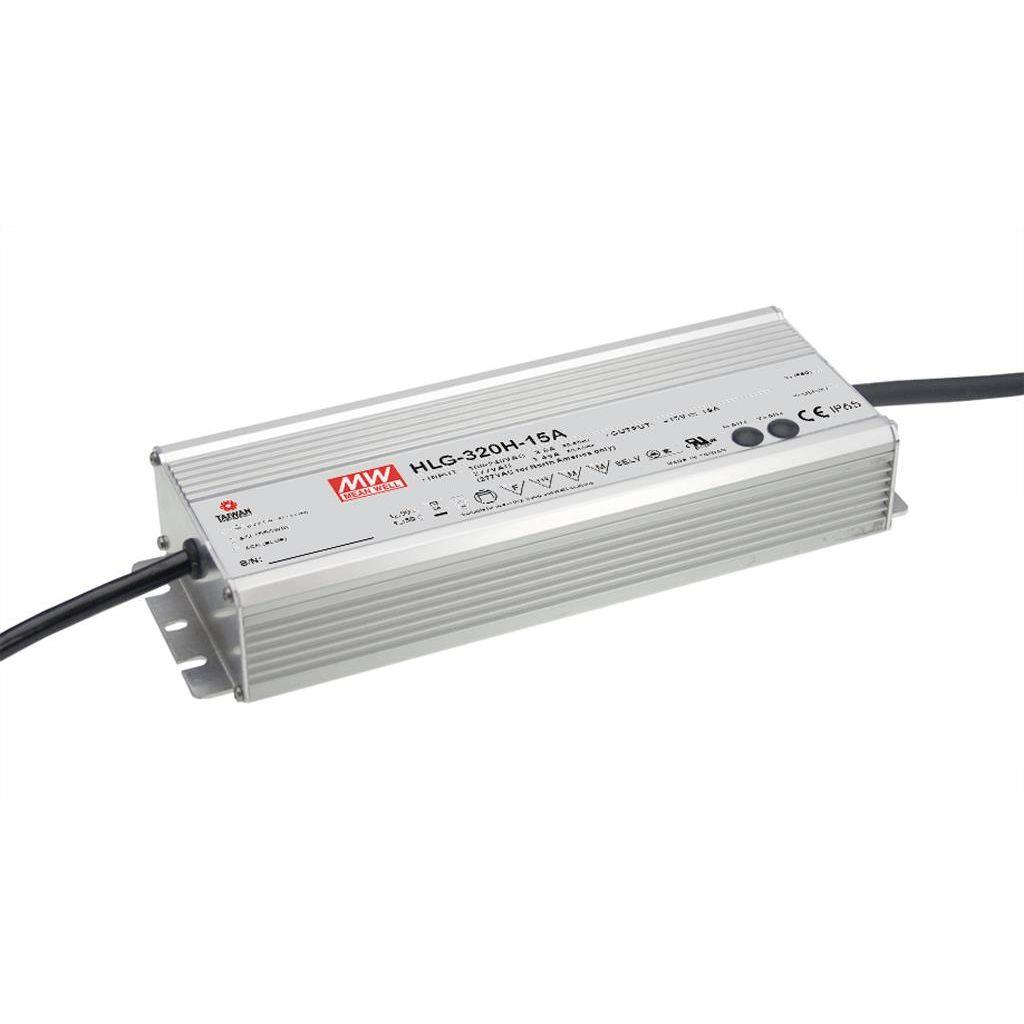 Mean Well HLG-320H-24 AC/DC C.V. C.C.  Box Type - Enclosed 24V 13.34A Single output LED driver