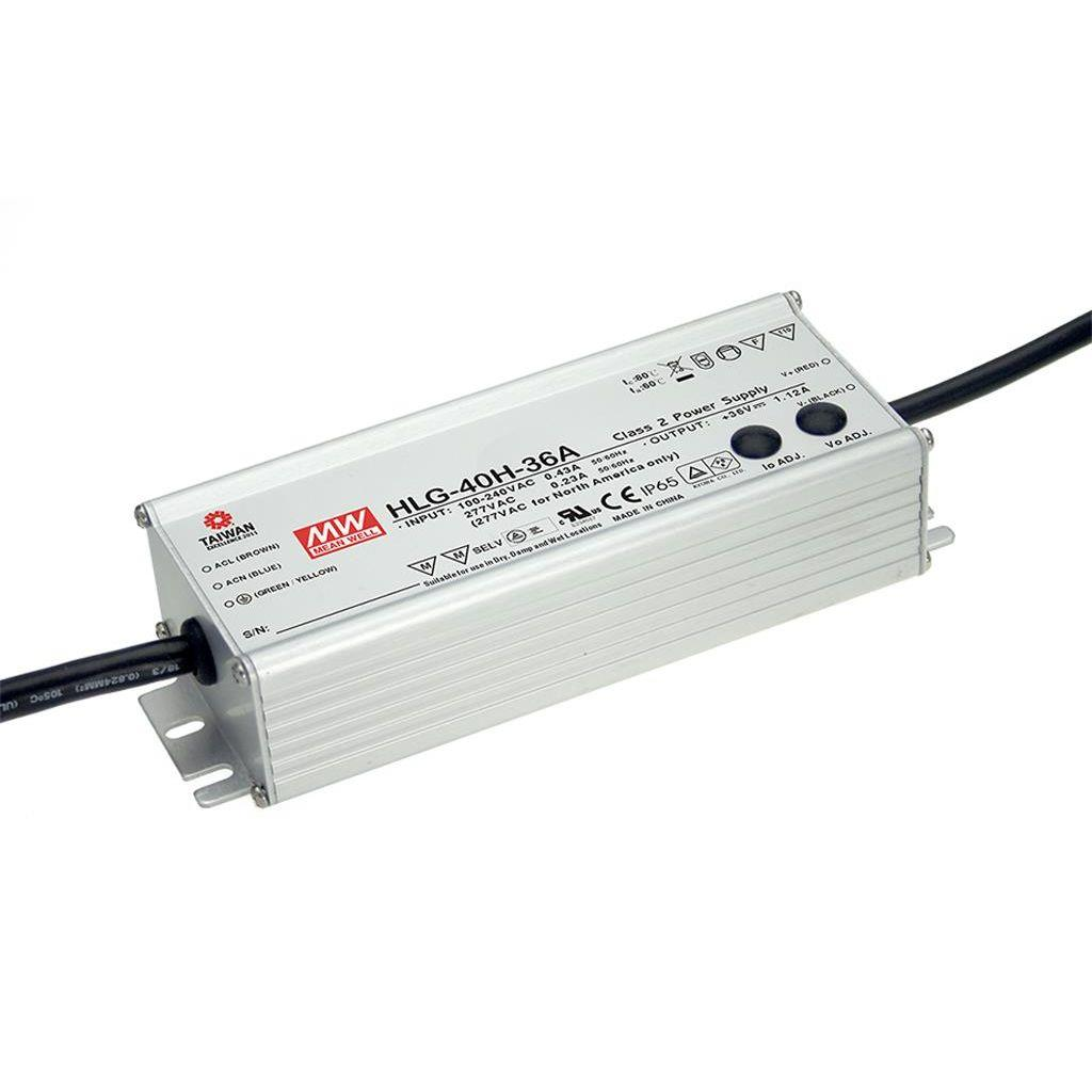 Mean Well HLG-40H-30A AC/DC C.V. C.C.  Box Type - Enclosed 30V 1.34A Single output LED driver