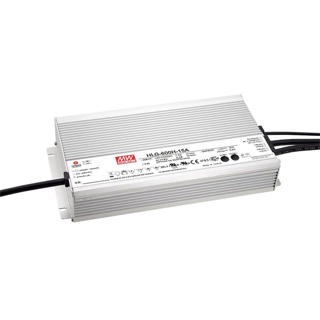 Mean Well HLG-600H-12B AC/DC C.V. C.C.  Box Type - Enclosed 12V 40A Single output LED driver