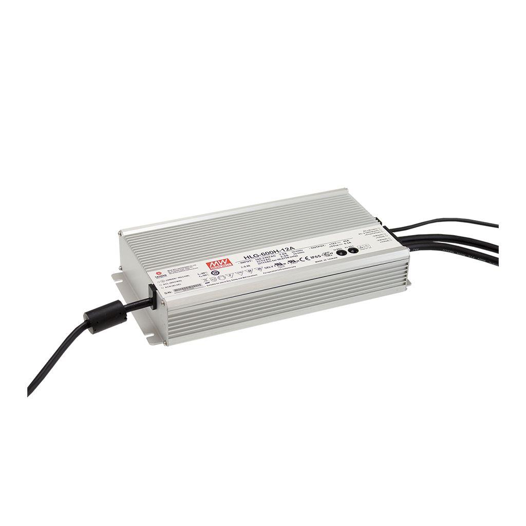 Mean Well HLG-600H-48 AC/DC Box Type - Enclosed 48V 12.5A Single output LED driver