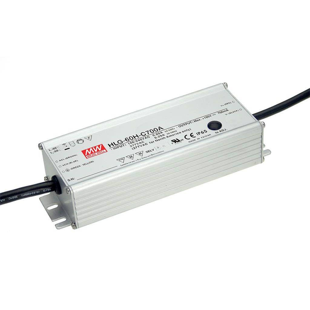 Mean Well HLG-60H-C350A AC/DC C.C. Box Type - Enclosed 200V 0.35A Single output LED driver
