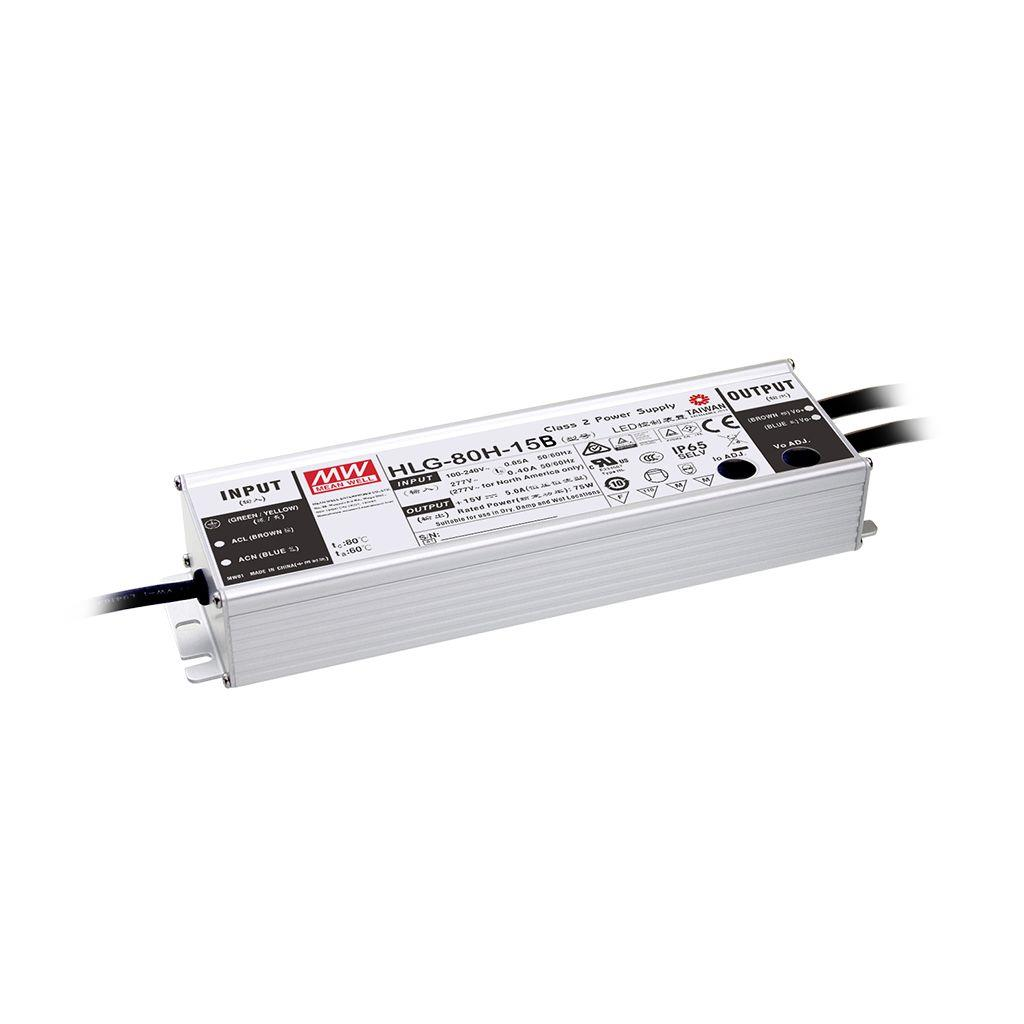 Mean Well HLG-80H-20AB AC/DC Box Type - Enclosed 20V 4A Single output LED driver