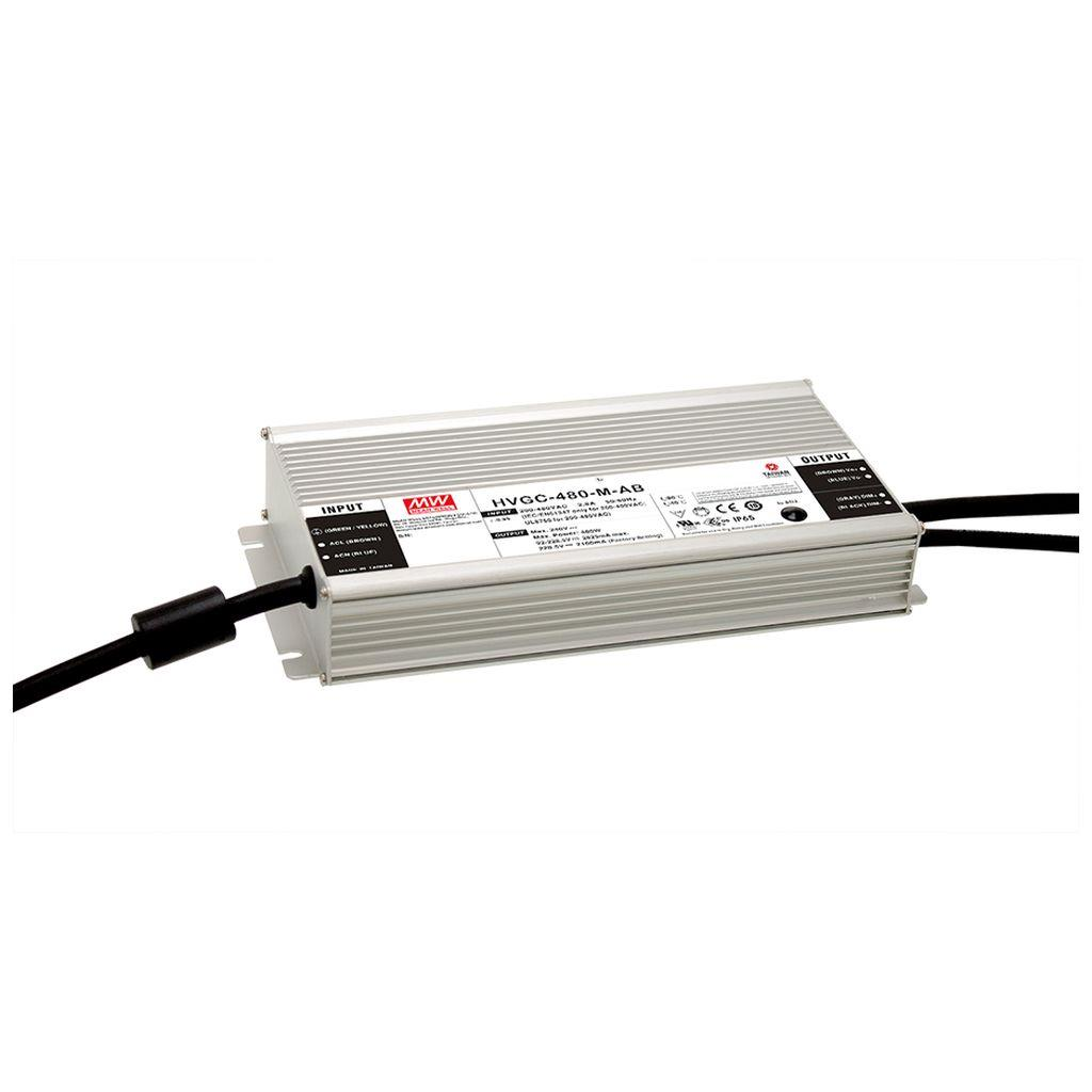 Mean Well HVGC-480-L AC/DC Box Type - Enclosed 343V 1.4A LED Driver
