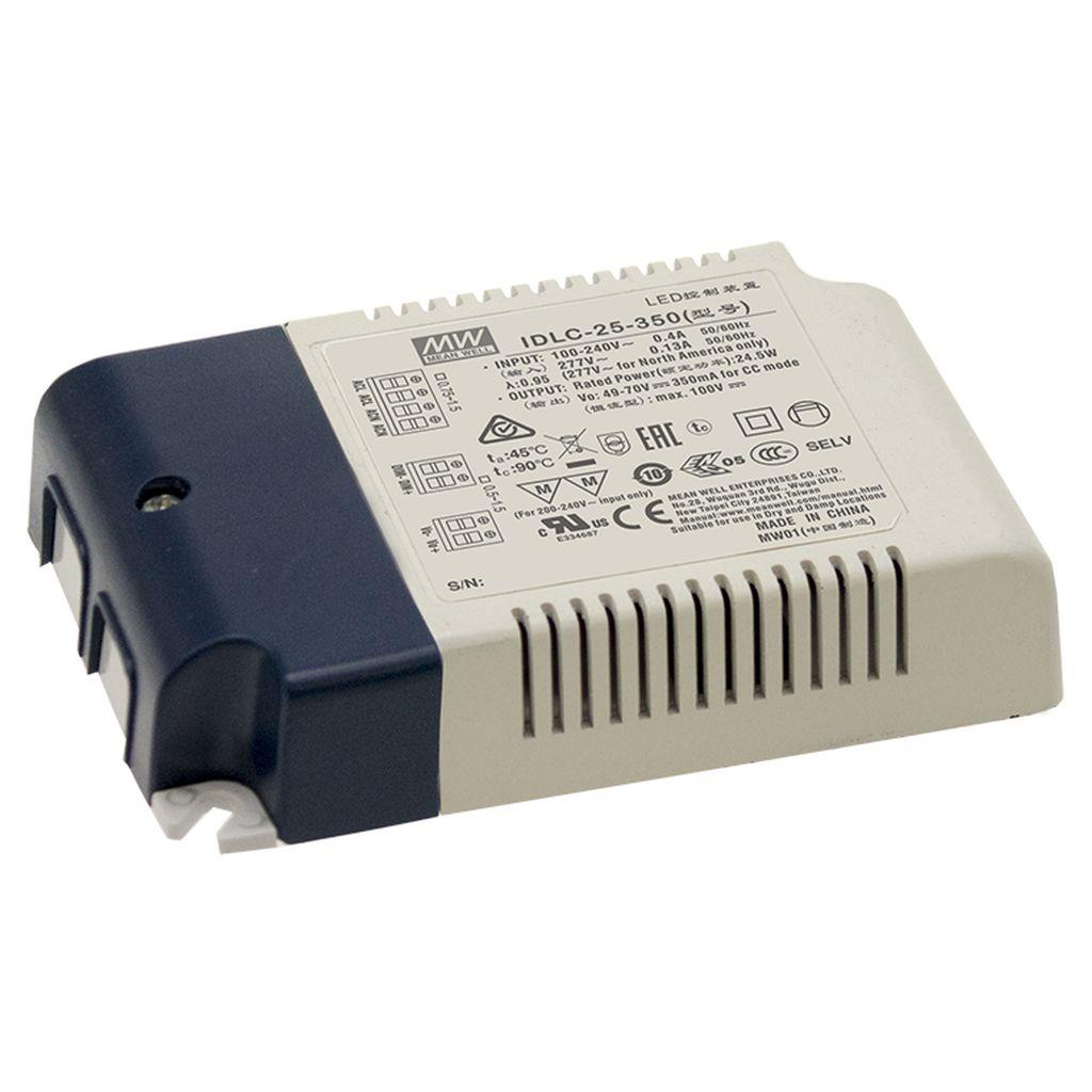 Mean Well IDLC-25-1050 AC/DC C.C. Box Type - Enclosed 24V 1.05A Power Supply