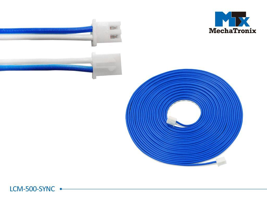 Mechatronix LCM-500-SYNC Dimming synchronization cable for Mean Well LCM-40 and LCM-60 LED driver; L500cm
