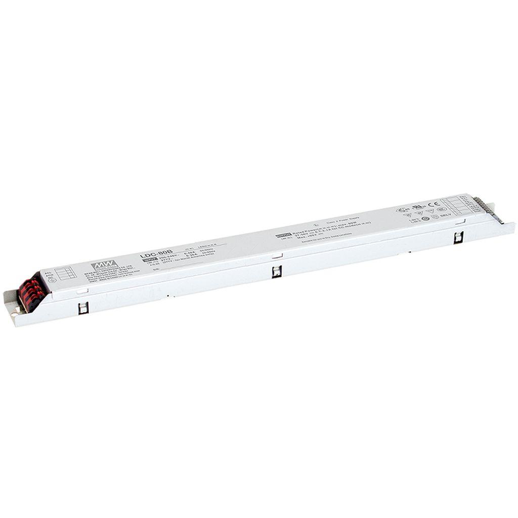 Mean Well LDC-80B AC/DC C.C. C.V. Box Type - Enclosed 56V 2.1A LED Driver