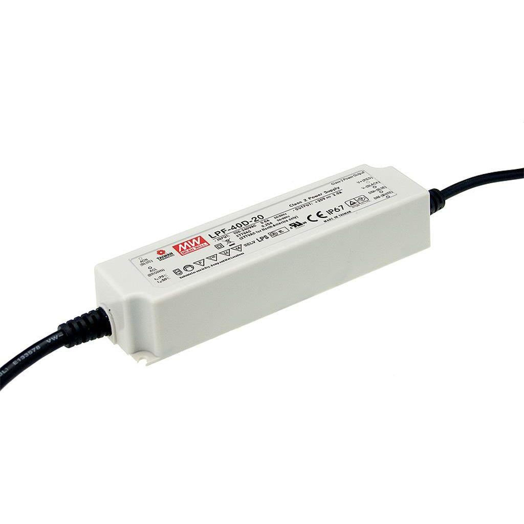 Mean Well LPF-40D-54 AC/DC C.C. Box Type - Enclosed 54V 0.76A Single output LED driver