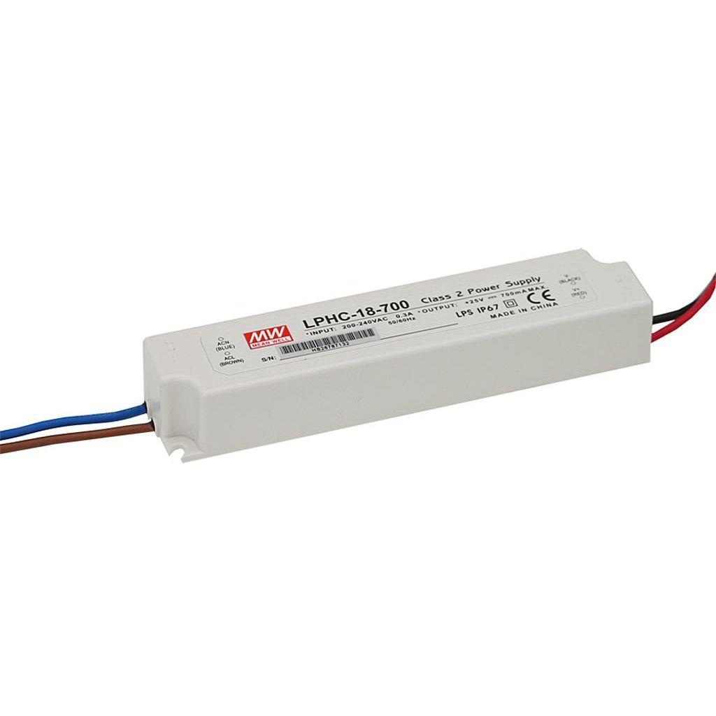 Mean Well LPHC-18-700 AC/DC C.C. Box Type - Enclosed 25V 18A Single output LED driver
