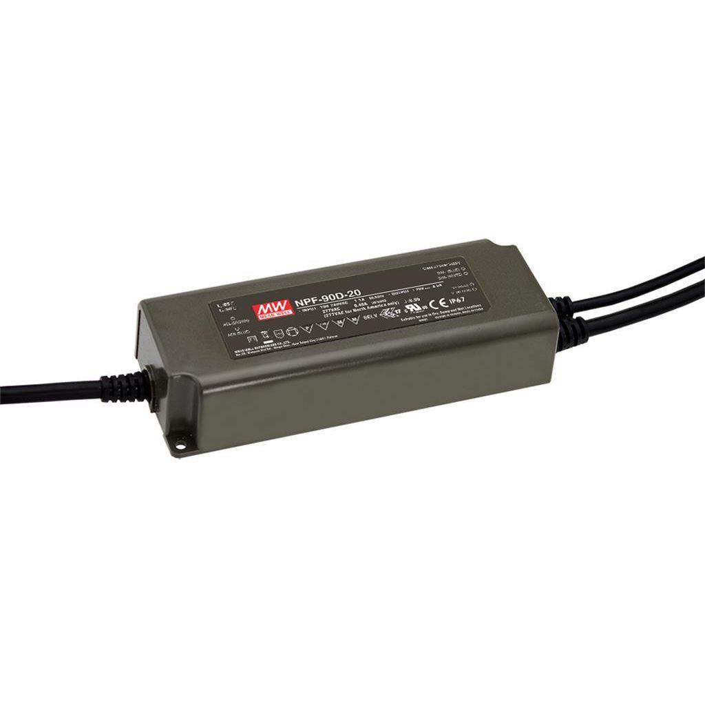 Mean Well NPF-90D-30 AC/DC C.C. Box Type - Enclosed 30V 3A Single output LED driver