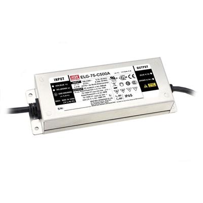 Mean Well ELG-75-C500 AC/DC C.V. C.C. Box Type - Enclosed 150V 0.5A Single output LED Driver