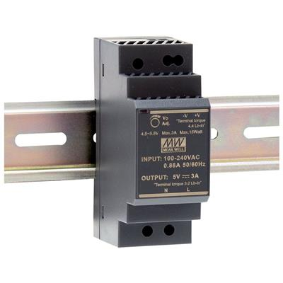 Mean Well AC/DC DIN rail 5V 3A Power Supply