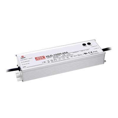 Mean Well HLG-100H-48A AC/DC C.V. C.C. Box Type - Enclosed 48V 2A Single output LED driver