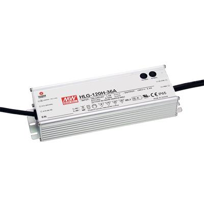 Mean Well HLG-120H-15 AC/DC C.V. C.C. Box Type - Enclosed 15V 8A Single output LED driver