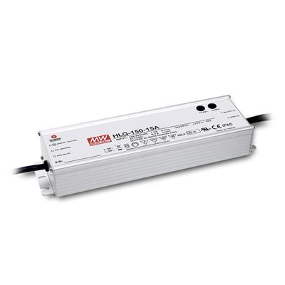 Mean Well HLG-150H-15B AC/DC C.V. C.C.  Box Type - Enclosed 15V 10A Single output LED driver