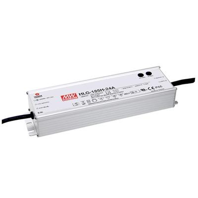 Mean Well HLG-185H-54A AC/DC C.V. C.C.  Box Type - Enclosed 54V 3.54A Single output LED driver