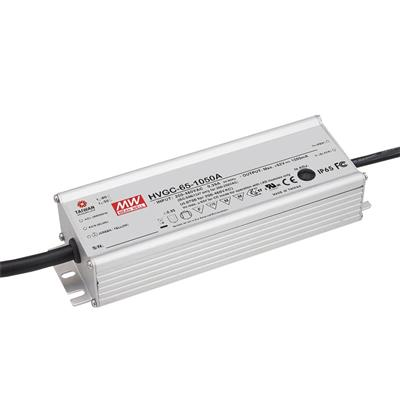 Mean Well HVGC-65-350B AC/DC C.C.  Box Type - Enclosed 186V 0.35A Single output LED driver