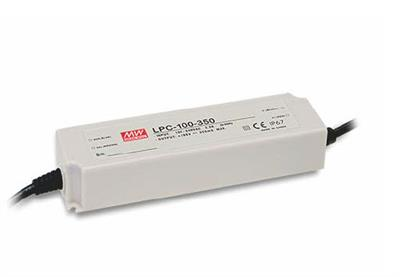 Mean Well LPC-100-350 AC/DC C.C. Box Type - Enclosed 286V 0.35A Single output LED driver