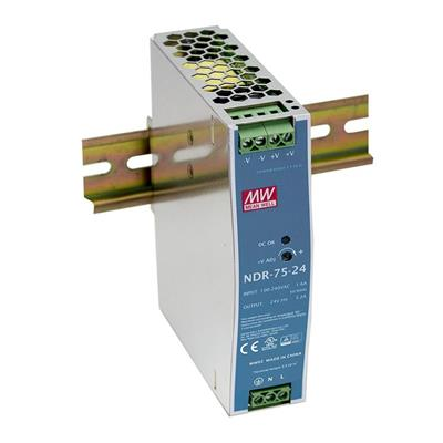 Mean Well NDR-75-24 AC/DC DIN Rail 24V 2A Power Supply